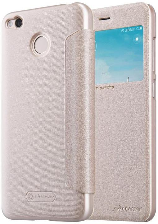 Nillkin Sparkle S-View Pouzdro Gold pro Xiaomi Redmi 4X