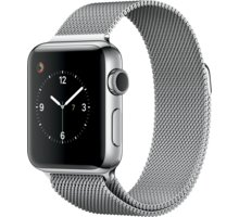 Apple Watch 2 38mm Stainless Steel Case with Silver Milanese Loop - MNP62CN/A