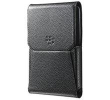 BlackBerry pouzdro kožené pro BlackBerry Passport, klip s otočným čepem, černá - ACC-60757-001