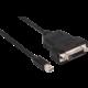 Club3D Mini DisplayPort 1.1 na DVI-D, single link, aktivní adaptér, 17cm