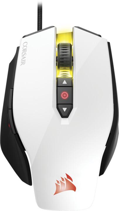 CORSAIR Gaming M65 PRO RGB FPS, bílá