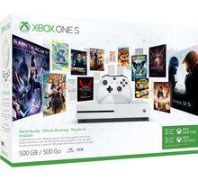 XBOX ONE S, 500GB, 3M Game pass + 3M Xbox live - ZQ9-00351 + Druhý ovladač Xbox, bílý v ceně 1400 kč