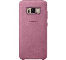 Samsung S8+, zadní kryt - kůže Alcantara, růžová - EF-XG955APEGWW