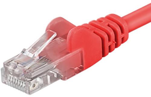 UTP síťový kabel kat.6 PC-HUB - 0,25m, červená