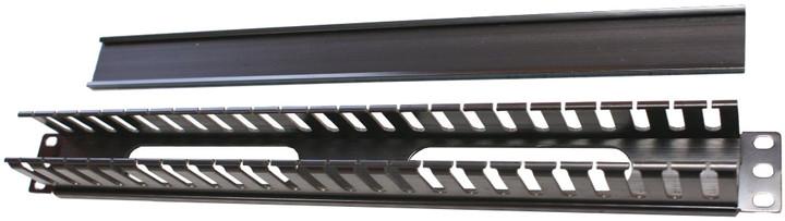 """Triton vyvazovací panel RAB-VP-X04-A1, 19"""", 2U, s plastovým kabelovodem"""