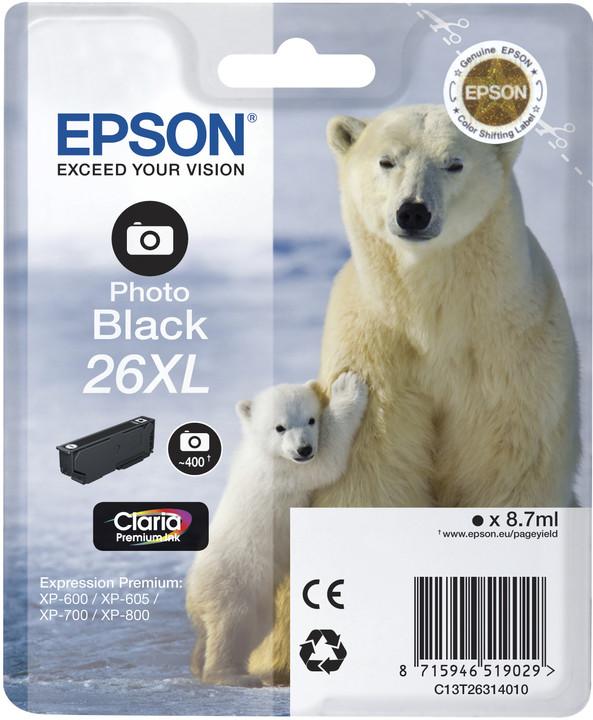 Epson C13T26314010, XL, photo černá