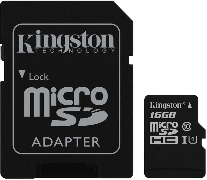 KINGSTON 16GB microSDHC Class10 UHS-I - Muistikortit - 740617245974 - 1
