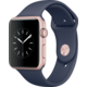 Apple Watch 42mm Rose Gold Aluminium Case with Midnight Blue Sport Band