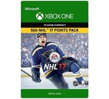 NHL 17 - 500 NHL Points (Xbox ONE) - elektronicky - 7F6-00069