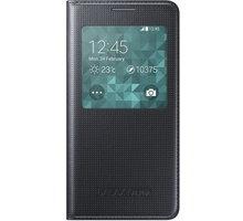 Samsung S-view EF-CG850B flipové pouzdro pro Galaxy Alpha (SM-G850), černá - EF-CG850BBEGWW
