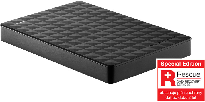Seagate Expansion Portable - 1TB, černá, Rescue plan