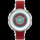 Pebble SmartWatch Time Round, 14mm pásek, stříbrná/červená
