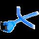Akasa SATA 6Gb/s - 1 m, modrý