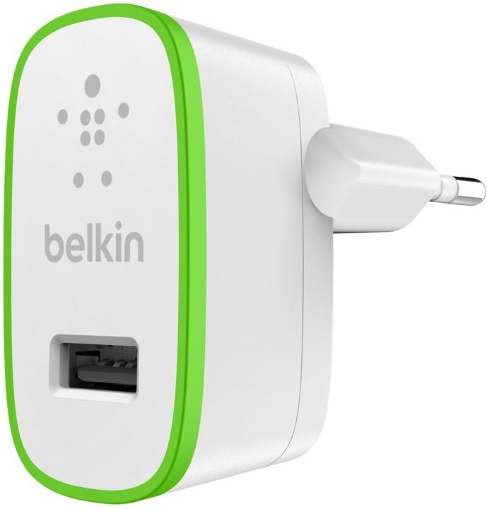 Belkin nabíječka, 1 x USB, 2.1A - 5V, bílá