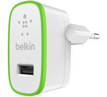Belkin nabíječka, 1 x USB, 2.1A - 5V, bílá - F8J052cwWHT