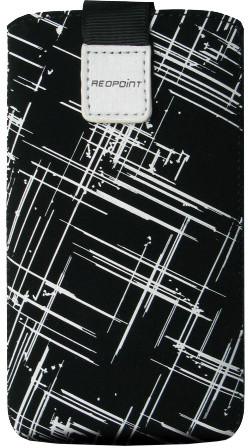 FIXED Velvet pouzdro, mikroplyš, motiv White Stripes, velikost 4XL