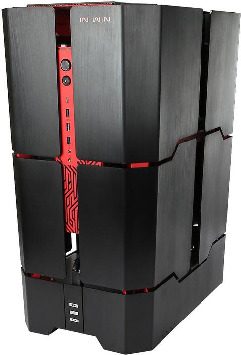In-Win H-TOWER ROG, černo-červená