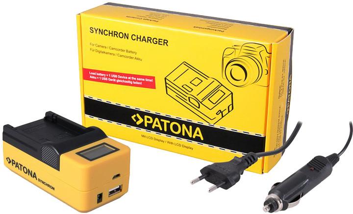Patona nabíječka Synchron Canon SLB-10A/NB-6L, 230V/12V, LCD+USB