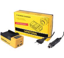 Patona nabíječka Synchron Casio NP-40, 230V/12V, LCD+USB - PT4524