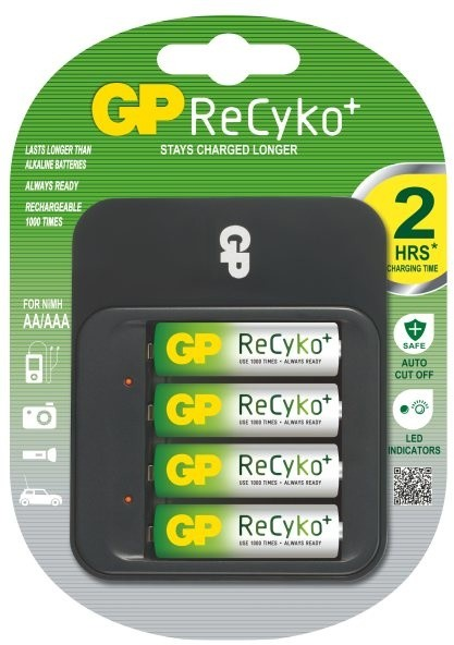 GP Power Bank 550 + 4x AA Recyko+ 2100 mAh