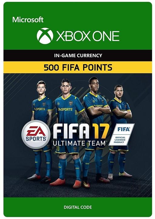 FIFA 17 - 500 FUT Points (Xbox ONE) - elektronicky