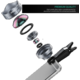 Aukey Ora iPhone Lens, 3x Optical Zoom Clip-on Telephoto Cell Phone Lenses for Android, iPhone