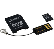 Kingston Micro SDHC 16GB Class 4 + SD adaptér + USB čtečka - MBLY4G2/16GB