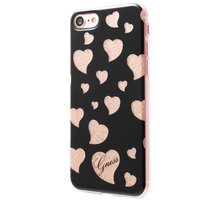 Guess Hearts TPU Pouzdro Black pro iPhone 7 - GUHCP7GLHBK