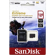 SanDisk Micro SDXC Extreme 128GB 100MB/s A1 UHS-I U3 V30 pro akční kamery + SD adaptér