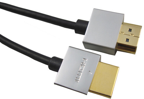 PremiumCord Slim HDMI + Ethernet kabel, 1,5m