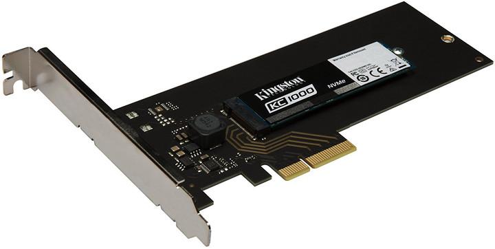 Kingston KC1000 NVMe PCIe SSD M.2+HHHL AIC - 960GB