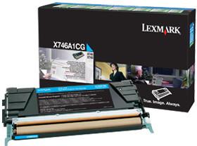 Lexmark X746A1CG, cyan, return