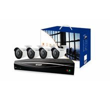 KGUARD HD881-WA713APK4 set, 8+4 (CCTV+IP) kanálový rekordér + 4x1M barevná venkovní kamera