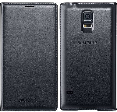 Samsung flipové pouzdro s kapsou EF-WG900B pro Samsung Galaxy S5 (SM-G900), černá - bulk