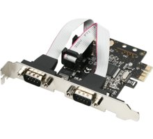 AXAGON PCI-Express adapter 2x sériový port + LP - PCEA-S2