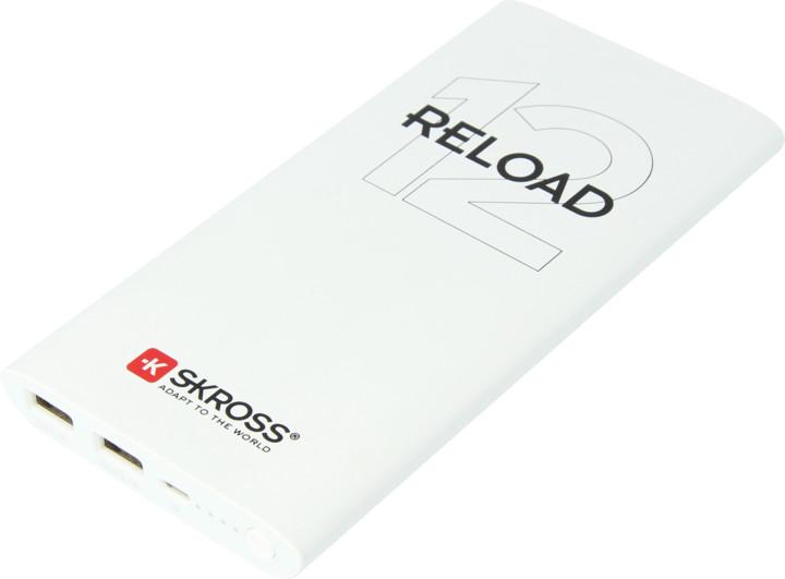 SKROSS powerbank Reload 12, 12000mAh, bílá