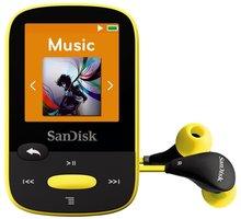 SanDisk Sansa Clip Sports 8 GB, žlutá - SDMX24-008G-G46Y
