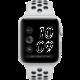 Apple Watch series 3 42mm NIKE+ pouzdro stříbrná/platinovo černý řemínek