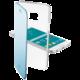 CellularLine Clear Book pouzdro typu kniha pro Samsung Galaxy S6, modrá