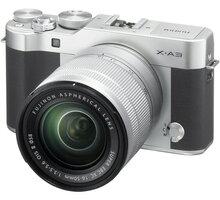 Fujifilm X-A3 + XC 16-50mm, stříbrná/černá - 16531697