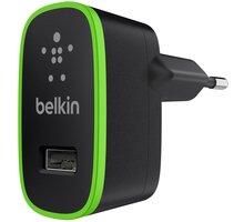 Belkin nabíječka, 1 x USB, 2.1A - 5V, černá - F8J052cwBLK