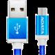 ADATA Micro USB kabel pletený, 1m, modrý