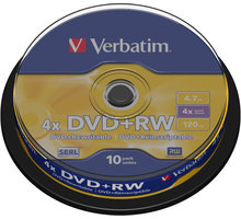 Verbatim DVD+RW 4.7GB 4x, 10ks, spindle - 43488
