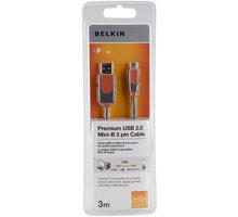 Belkin USB 2.0 kabel A-miniB (5pin), premium, 3 m - CU1200cp3M