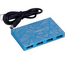 Crono USB HUB 7 portů, USB 2.0, modrá - U1297