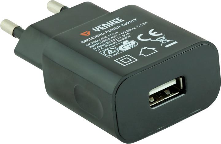 YENKEE YAC 2003BK USB Nabíječka 1000mA