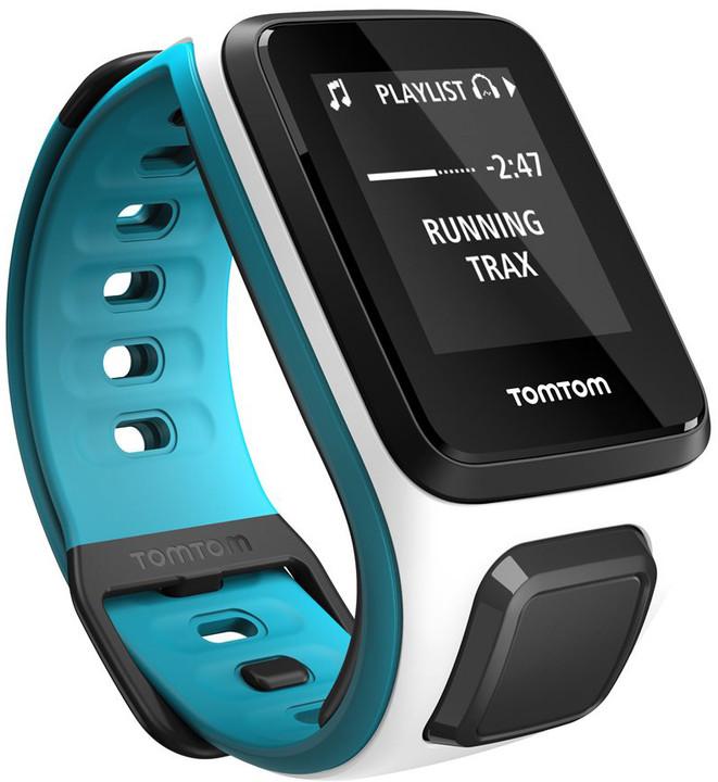 TOMTOM Runner 2 (velikost S), bílá/modrá