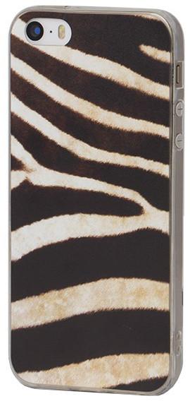 EPICO pružný plastový kryt pro iPhone 5/5S/SE ZEBRA MARKS