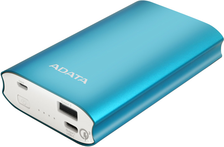 ADATA A10050QC Powerbank 10050mAh, modrá