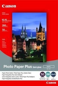 Canon Foto papír SG-201, 10x15 cm, 50 ks, 260g/m2, pololesklý